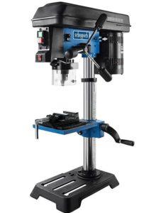 Scheppach Ständerbohrmaschine DP16SL, robuste Tischbohrmaschine mit 550 Watt, inklusive Positions-Laser, für präzises und punktgenaues Bohren, Art.-Nr. 4906807901