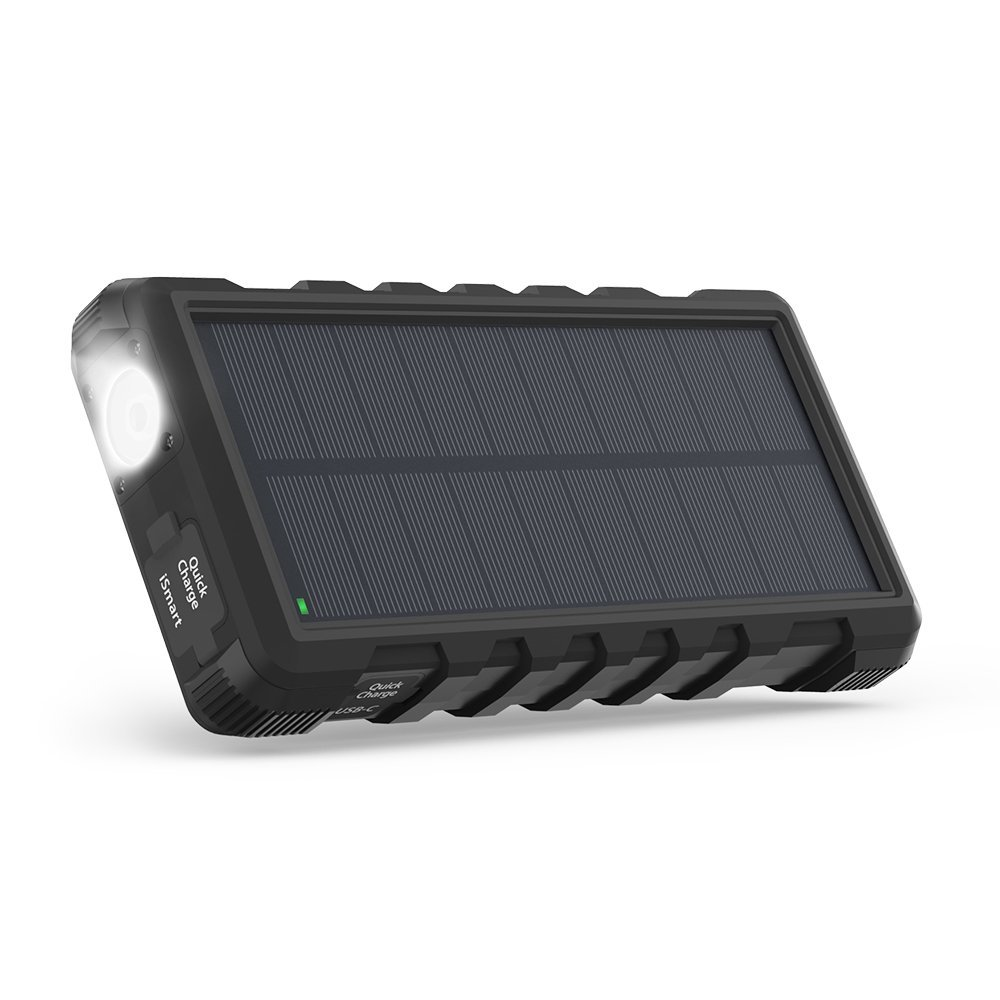 Solar Powerbank Test - Design und Flashlight des Solar Powerbanks