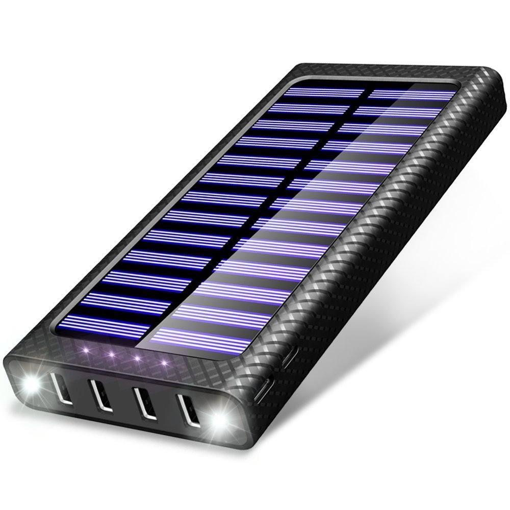Solar Powerbank Test - das Design des Powerbanks und LED Licht