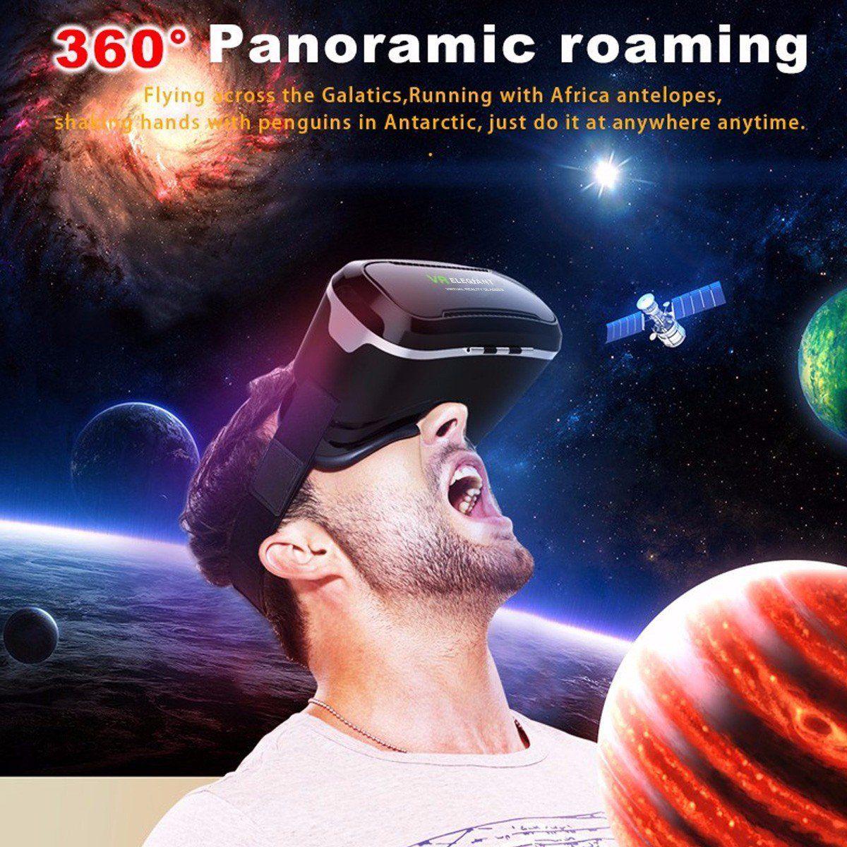 VR Brille Test - der Mann testet die Auflösung und Sichtfeld von einer VR Brille