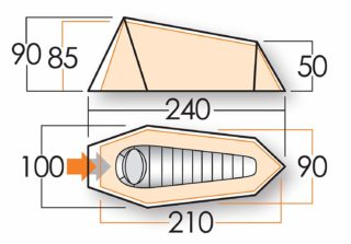 Das Talas 100 1 Person Zelt ist sehr kompakt und stabil Test