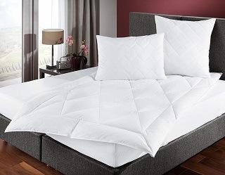 Die Zollner 6225-4134-135200-001 Daunendecke auf dem Bett im Test