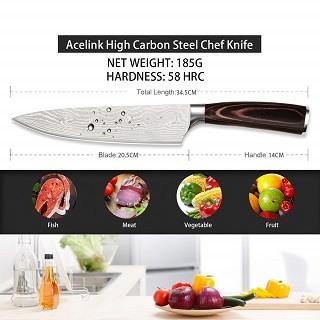 Das Küchenmesser mit 1 Jahr Garantie von Acelink Professional im Test und Vergleich bei Expetentesten