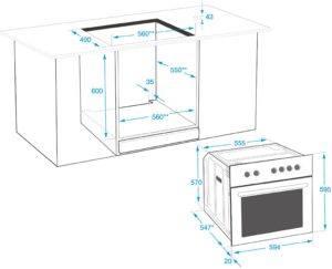 Einen Backofen mit Mikrowelle im Test richtig installieren