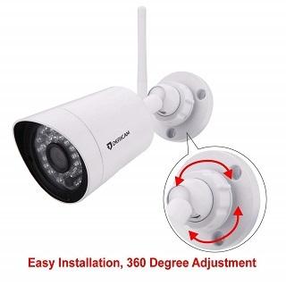 Die Dericam Full HD 1080P Überwachungskamera Instalation im Test