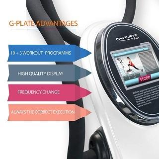 Display Anzeige von der POWRX Vibrationsplatte G-Plate HPS im Test