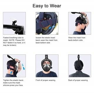 Leichte Handhabung der HOBFU Tauchmaske