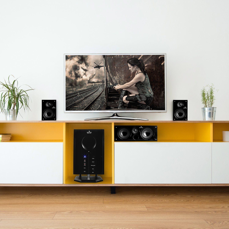 Surround System auf Regal im 5.1 Lautsprecher Test
