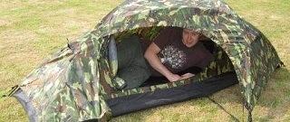 Das Recon 1 Person Zelt wird getestet