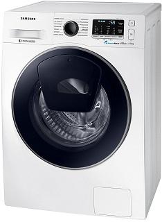 Die erste SLIM AddWash Waschmaschine von Samsung sorgt für großes Fassungsvermögen auch auf kleinstem Raum Test