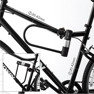 Das Via Velo Fahrradschloss Fahrrad im Test