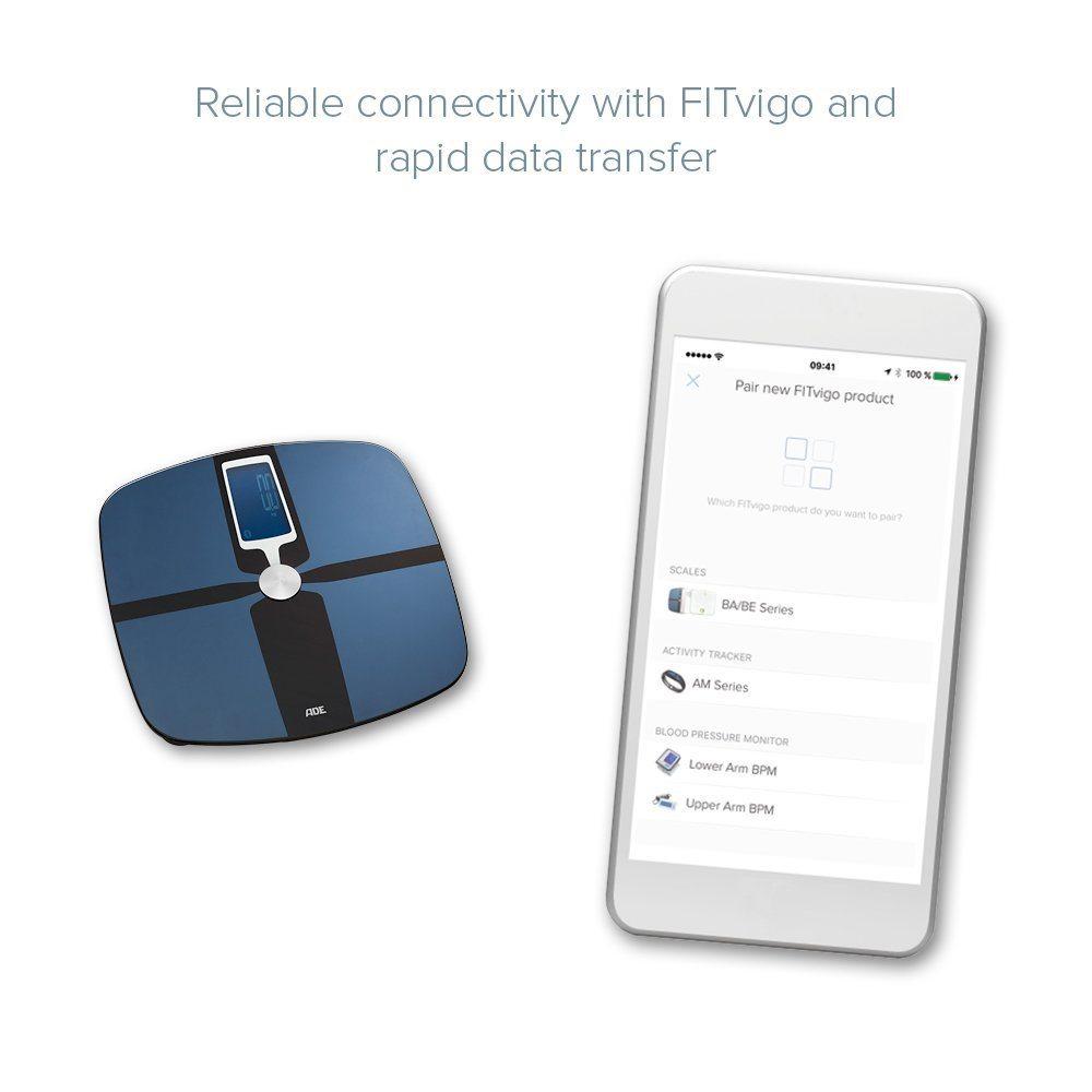 Die ADE BA 1600 FITvigo Körperfettwaage App im Test