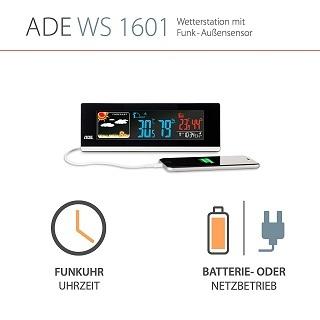 ADE Wetterstation WS 1601 mit Uhr Test
