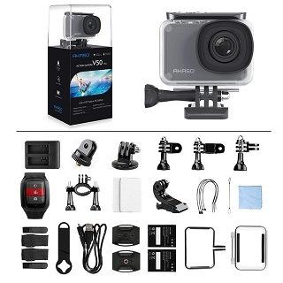 Zubehör von AKASO V50 Pro Unterwasserkamera im Test