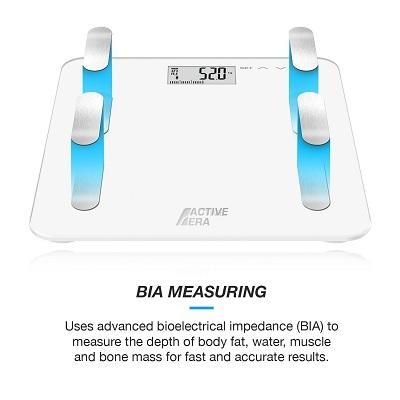 Die Active Era™ Digitale Körperfett-Personenwaage Display im Test