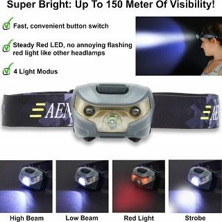 Die Stirnlampe mit 220lm Leuchtkraft von Aennon Top-Pro-Xs im Test und Vergleich bei Expertentesten