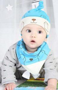 BIGBOBA – Babymütze und Lätzchen aus Baumwolle Jungen