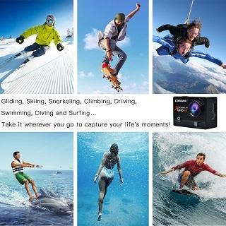 verschiedene Sportarten mit der Campark ACT74 Unterwasserkamera im Test