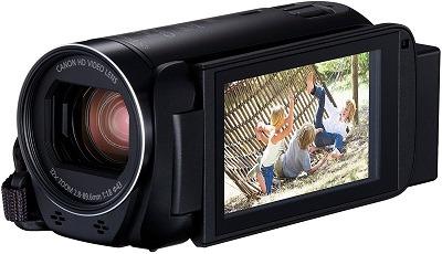 Der Canon LEGRIA HF R86 Camcorder von Seite im Test