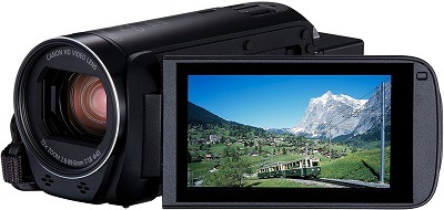 Der Canon Legria HF R806 Camcorder Display im Test