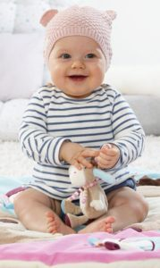 Fehn 081657 3-D-Activity-Decke Esel – Spielbogen mit 5 abnehmbaren Spielzeugen für Babys