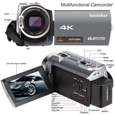 Der Ansteker BBY534 MO Camcorder Funktionen im Test