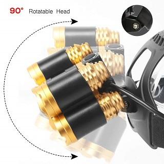 Die Stirnlampe mit 5000lm Leuchtkraft von Laluztop Gold im Test und Vergleich bei Expertentesten