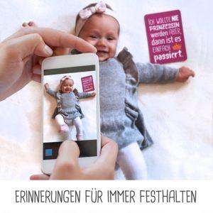 Lustige Baby Meilenstein-Karten für die ersten Lebensjahre