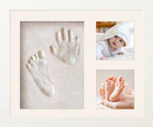NIMAXI Baby Bilderrahmen mit Gipsabdruck