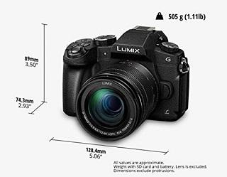 Die DMC-G81MEG-K Lumix G Spiegelreflexkamera ist sehr kompakt Test