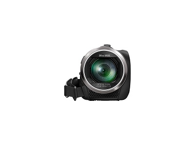 Der Panasonic HC-V180EG-K Full HD Camcorder von vorne im Test