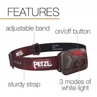 Die Stirnlampe mit IPX4 Zertifizierung von Petzl Tikkina im Test und Vergleich bei Expertentesten