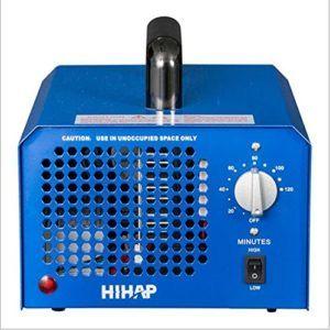 Ansicht des blauen Ozongenerators im Luftreiniger Test