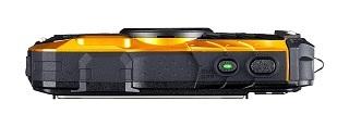 Bedienknopf von Ricoh WG-50 Unterwasserkamera im Test