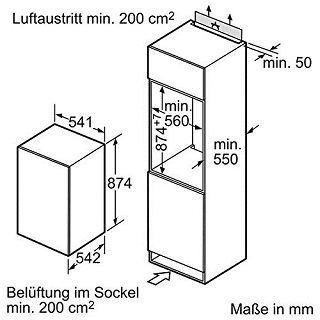 Maße von Siemens KI18RV60 iQ100 Kühlschrank im Test