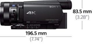 Der Sony FDR-AX100 4K Ultra HD Camcorder Dimension im Test