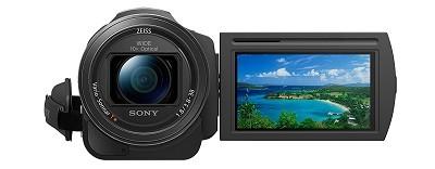 Der Sony FDR-AX33 4K Camcorder Display im Test
