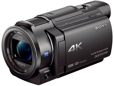 Der Sony FDR-AX33 4K Camcorder von Seite im Test