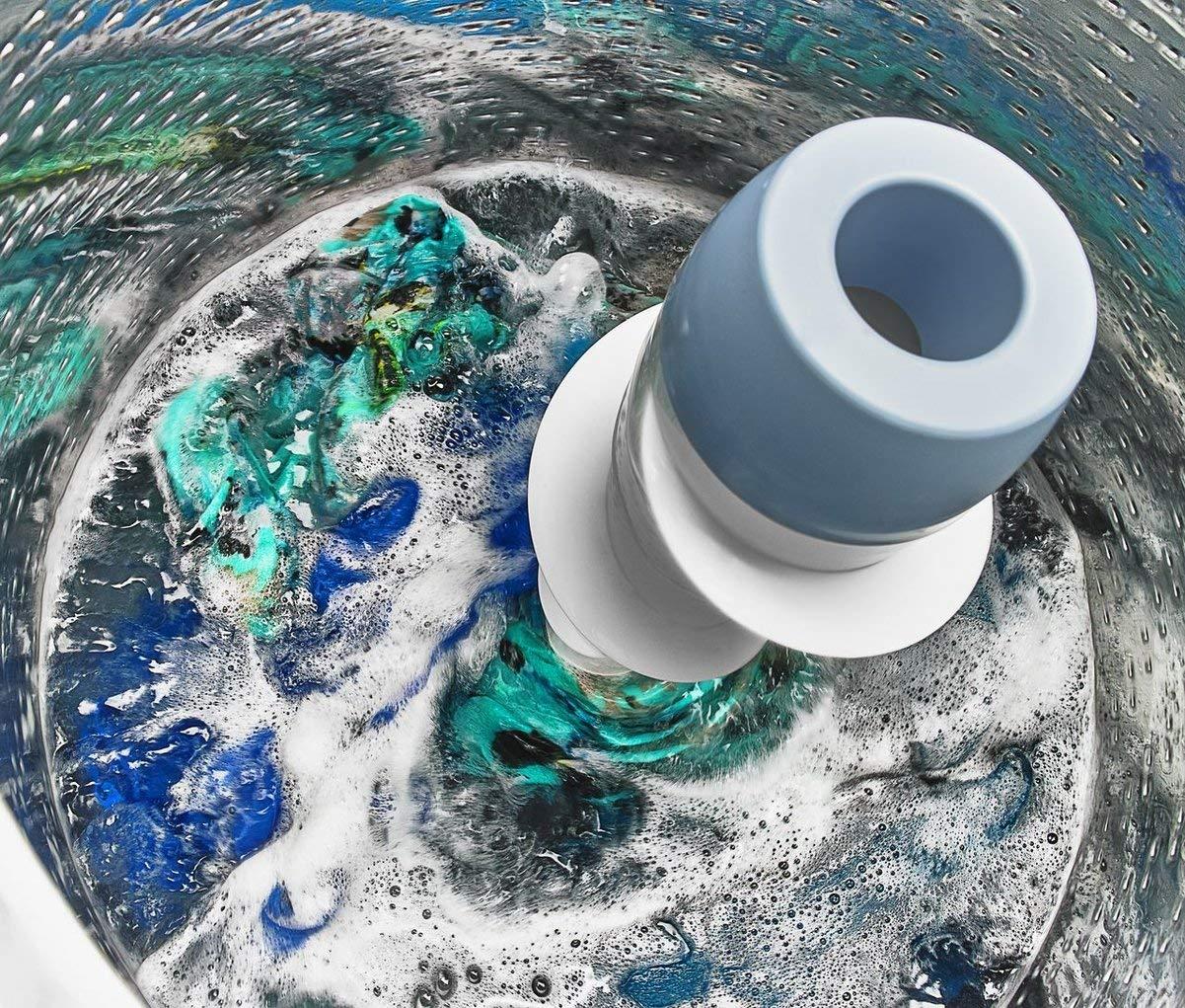 Eine Herkömmliche Mitteleuropäische Toplader Waschmaschine Verfügt über  Eine Wasserdurchlässige Einfach Oder Doppelt Gelagerte Trommel, Ein  Wasserdichtes ...