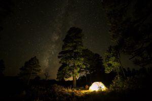 Campingurlaub mit einem Wurfzelt im Test