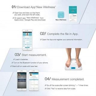 Die YECO New iWellness Körperfettwaage im Test