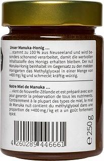 Verpackung von nu3 Manuka Honig im Test