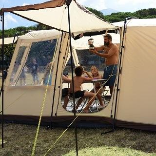 skandika Nordland 4-Personen Campingzelt Tür Test