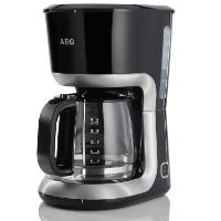 Schwarze Filterkaffeemaschine mit Glaskanne von AEG PerfectMorning KF3300 im Test
