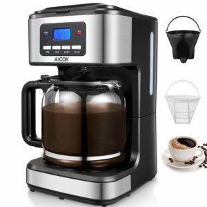 Filterkaffeemaschine für den gastronomischen Bedarf von Aicok mit unterschiedlichen Filtern