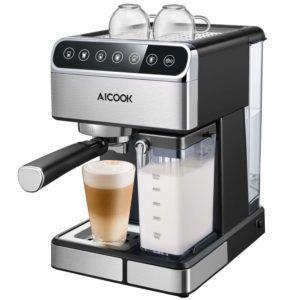 Aicook Espressomaschine mit Siebträger und Milchaufschäumer im Test