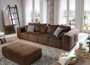 XXL Couch mit Hocker von Cavadore im Test