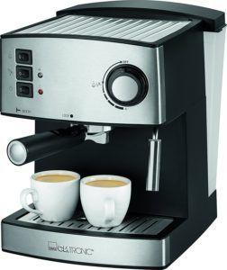 Clatronic ES 3643 Espressomaschine mit Siebträger mit zwei fertigen Espresso