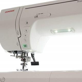 Die MC 8200 QCP Nähmaschine hat ein sehr schönes und kompaktes Design Test