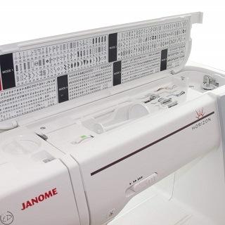 Die MC 8200 QCP Nähmaschine von Janome wird getestet